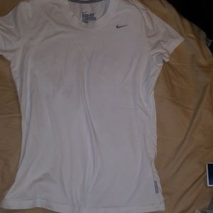 Nike Dri-fit White Tee (some light staining)